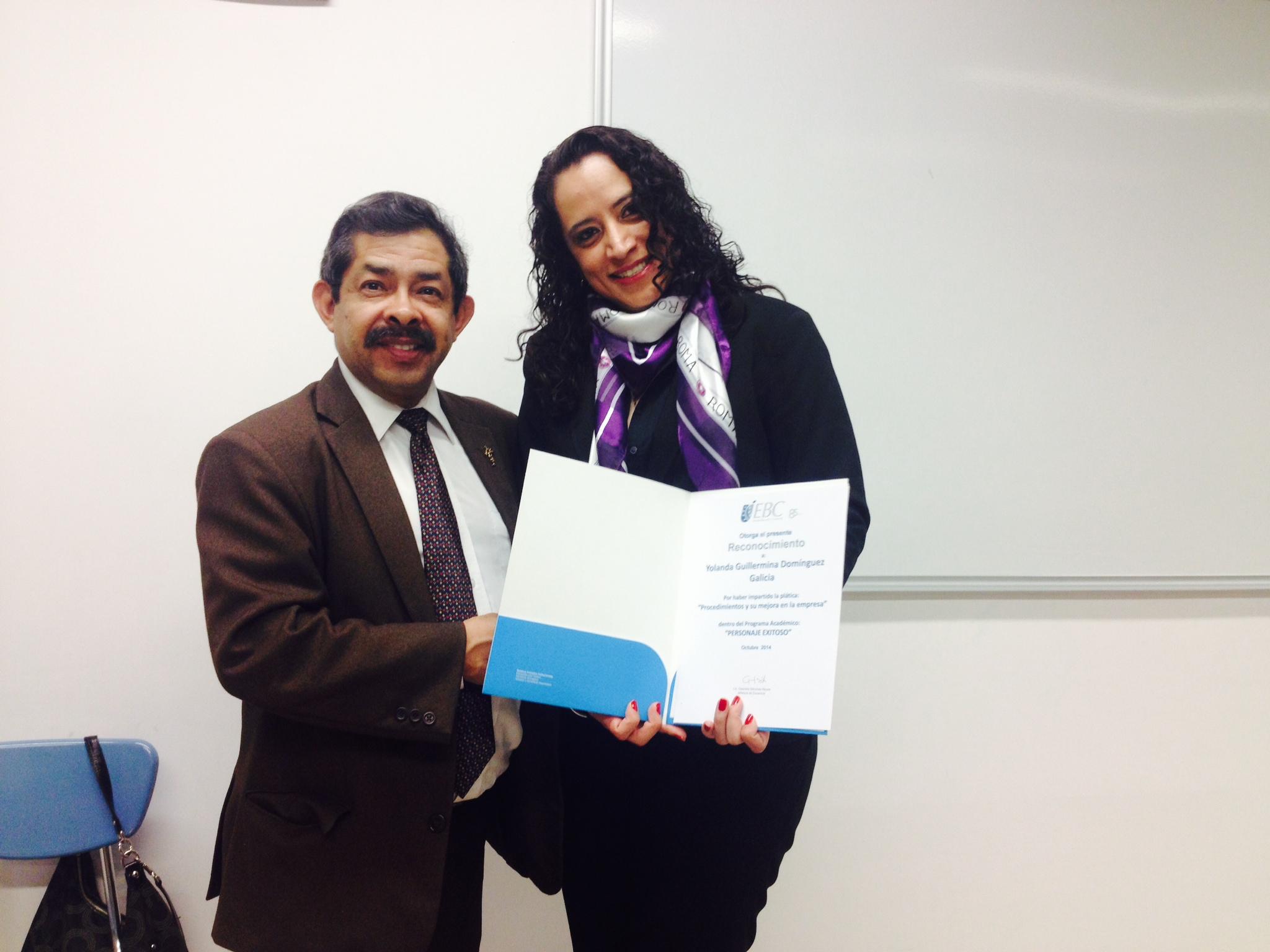 Mtra. Yolanda Domínguez, Directora de Calidad Académica en el IEE.