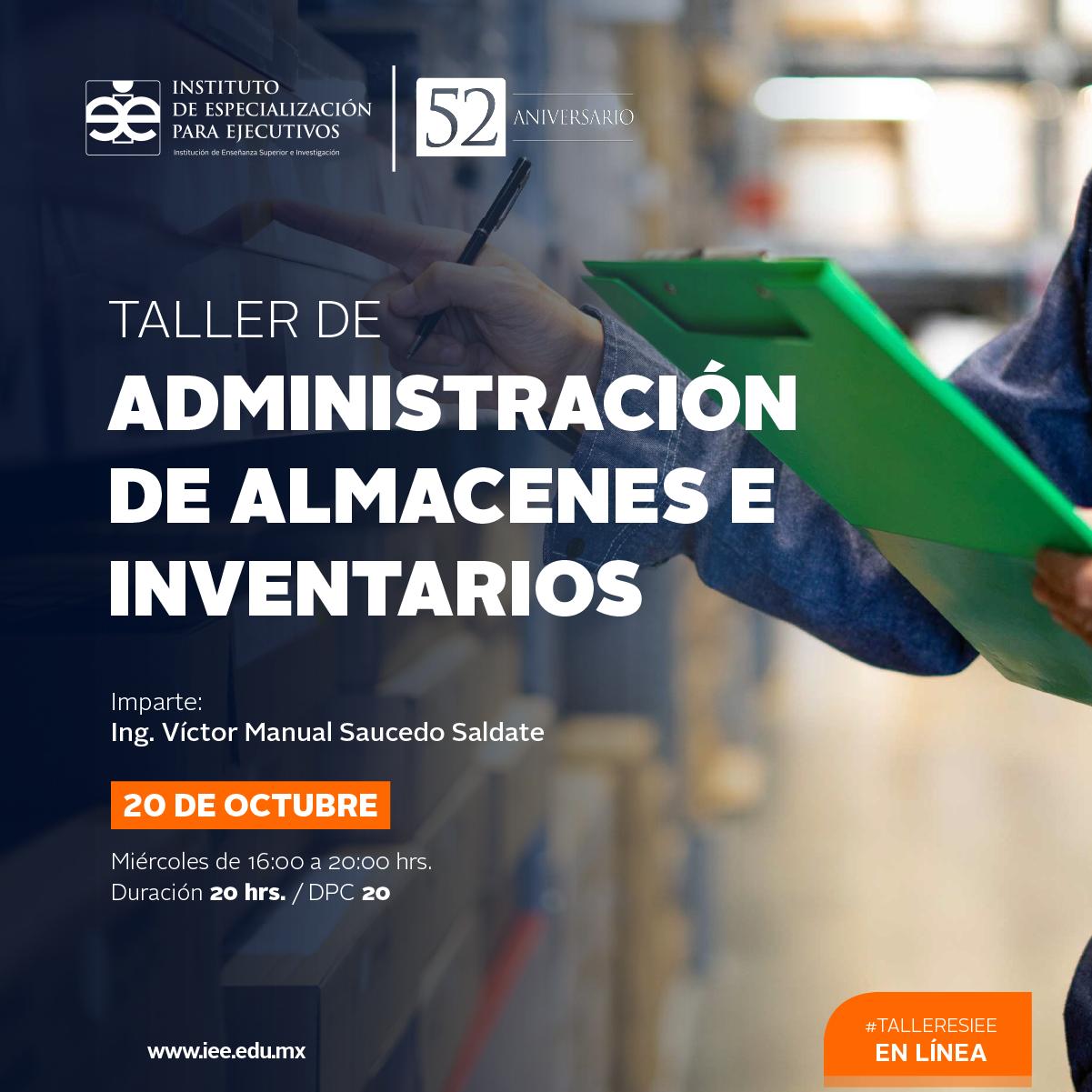 Taller en Línea Administración de Almacenes e Inventarios