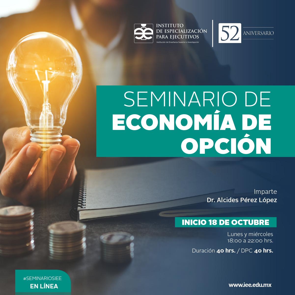 Seminario en Línea en Economía de Opción