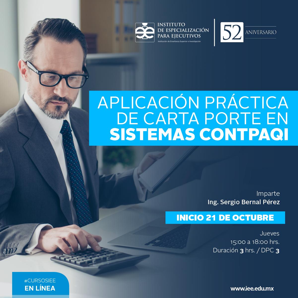 Curso en Línea Aplicación Práctica de Carta Porte en Sistemas CONTPAQI