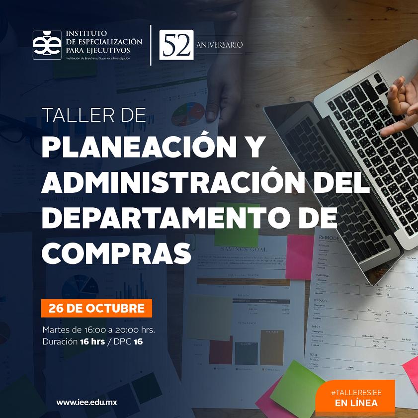 Taller en Línea en Planeación en Administración del Departamento de Compras