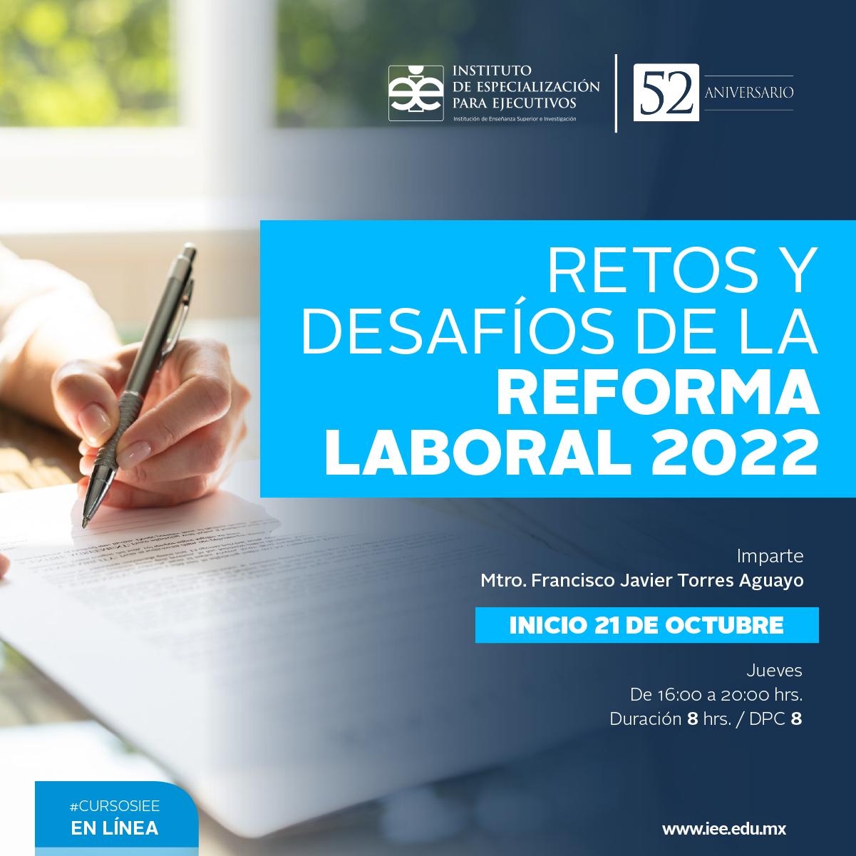 Curso en Línea Retos y Desafíos de la Reforma Laboral 2022
