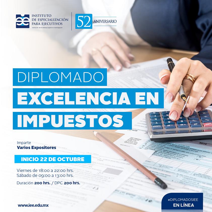 Diplomado en Línea en Excelencia en Impuestos
