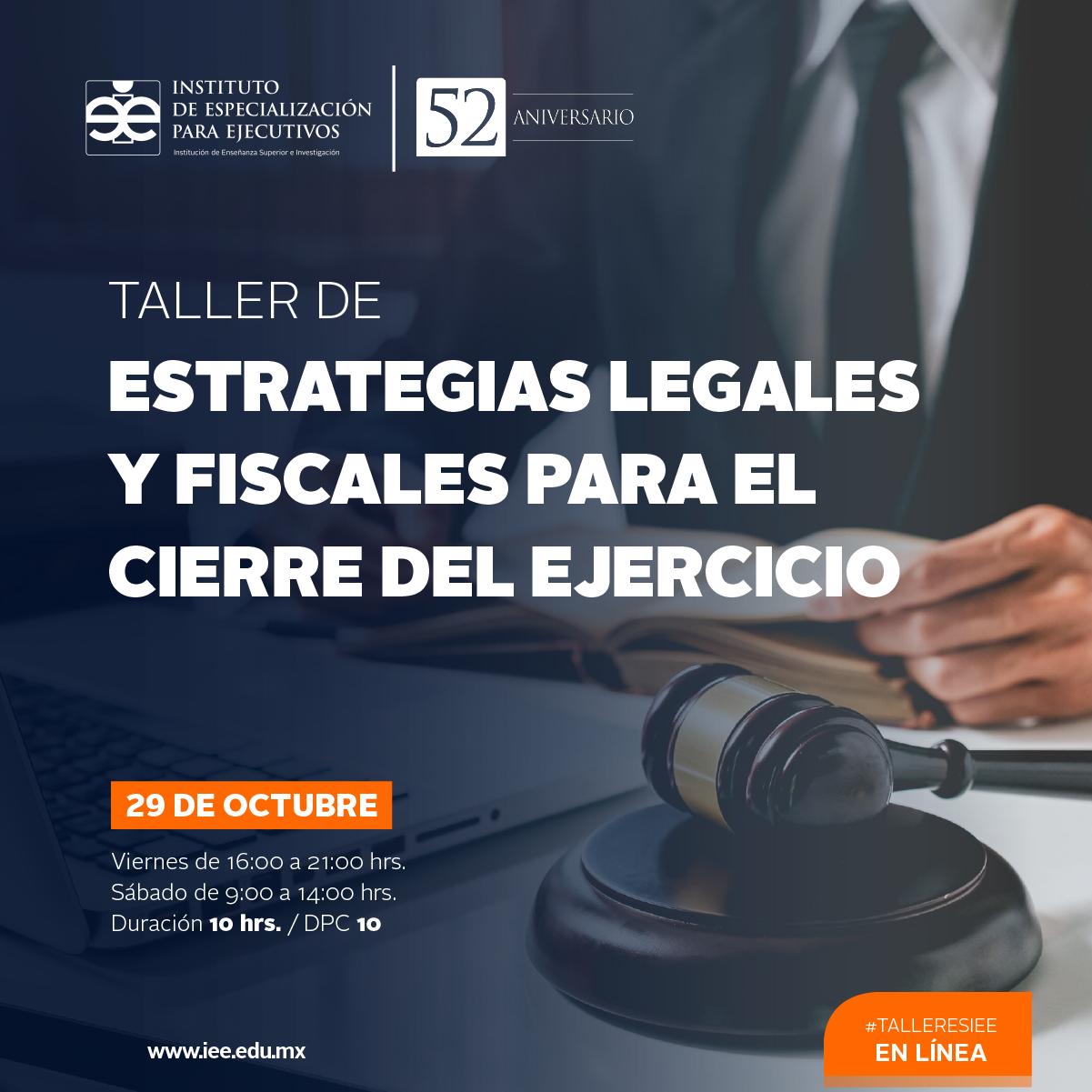 Taller en Línea en Estrategias Legales y Fiscales para el Cierre del Ejercicio
