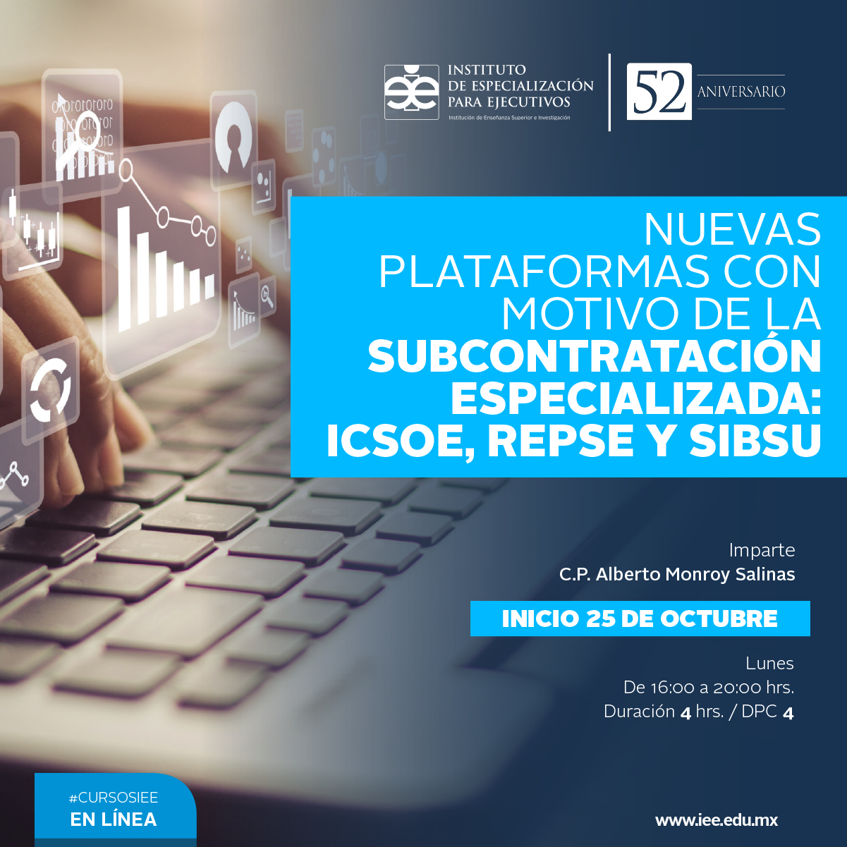 Curso en Línea en Nuevas Plataformas con Motivo de la Subcontratación Especializada: ICSOE, REPSE y SIBSU