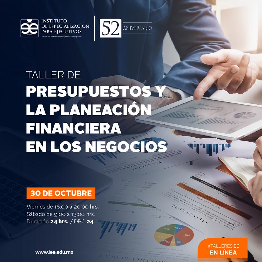 Taller en Línea de Presupuestos y la Planeación Financiera en los Negocios