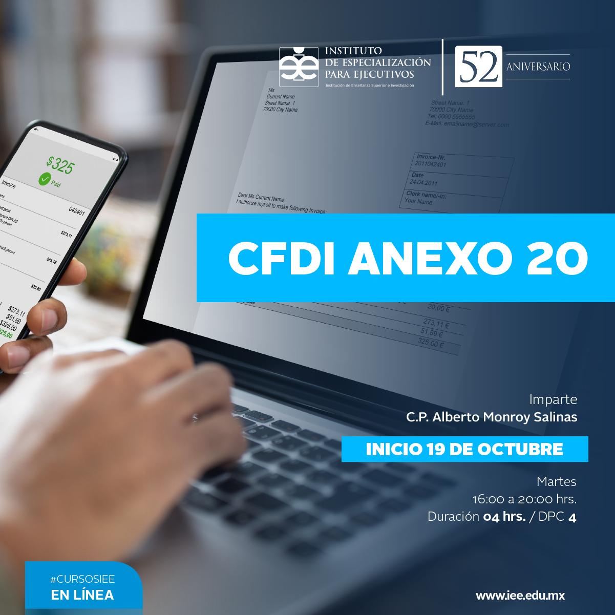 Curso en Línea en CFDI Anexo 20