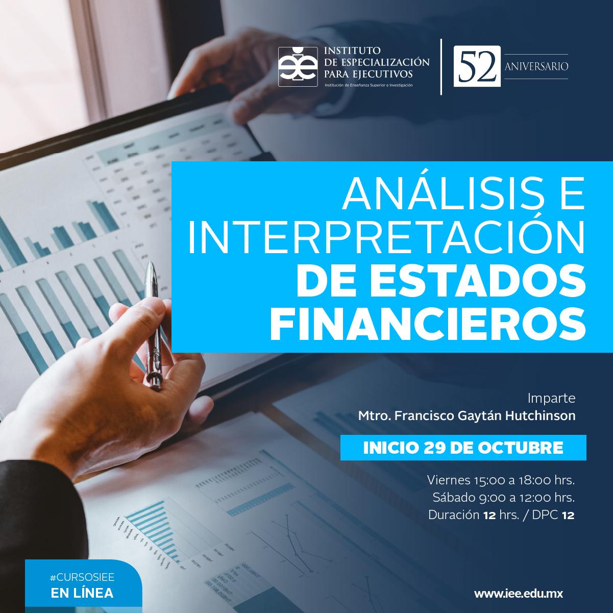Curso en Línea en Análisis e Interpretación de Estados Financieros