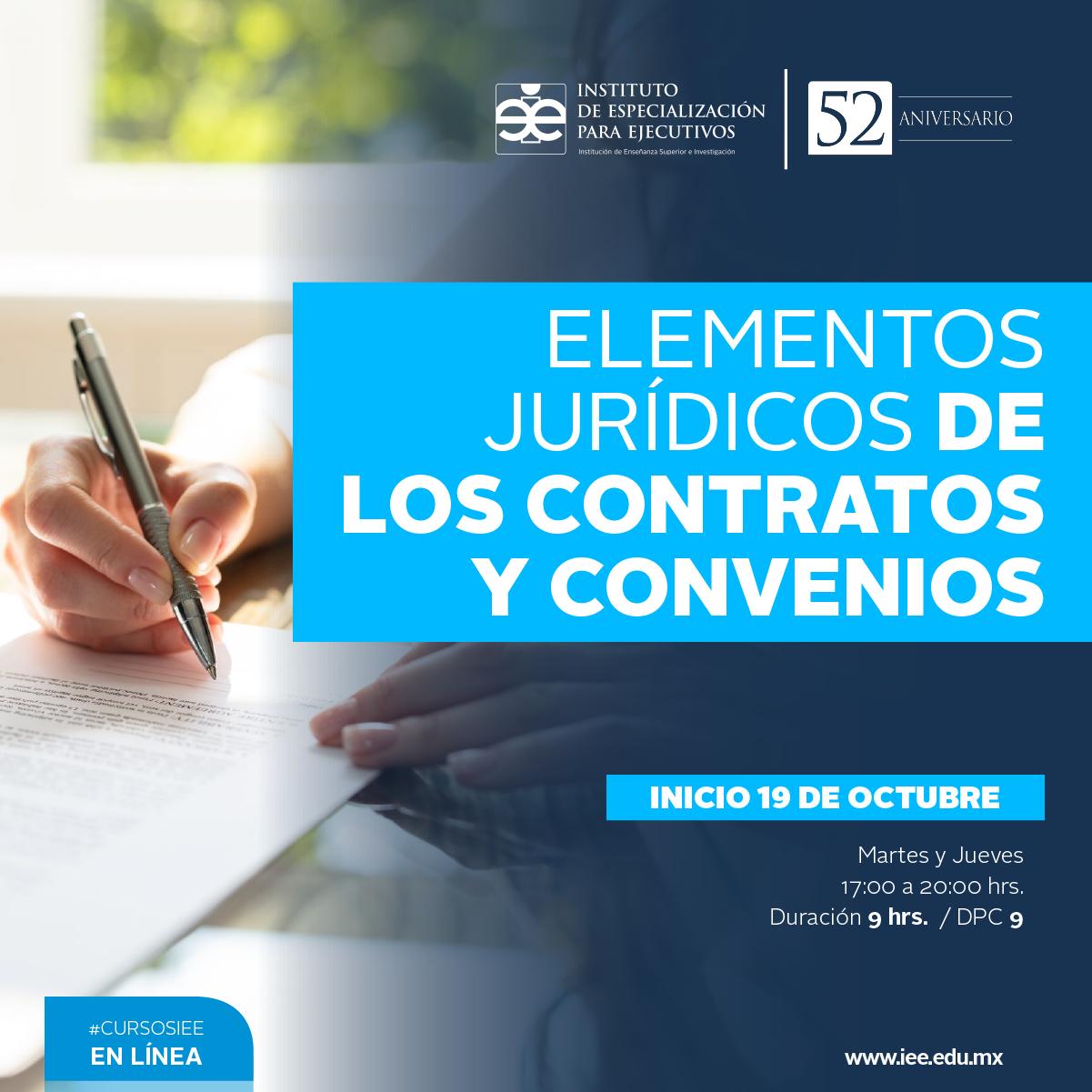 Curso en Línea en Elementos Jurídicos de los Contratos y Convenios
