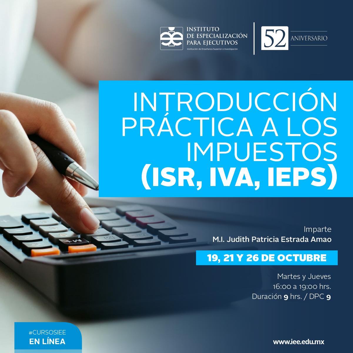 Curso en Línea Introducción Práctica a los Impuestos (ISR, IVA, IEPS)