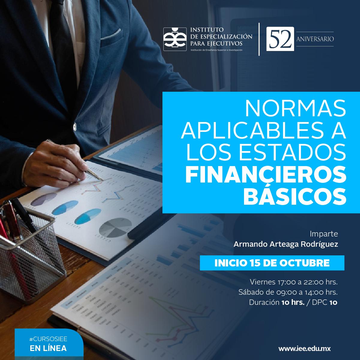 Curso en Línea en Normas Aplicables a los Estados Financieros Básicos
