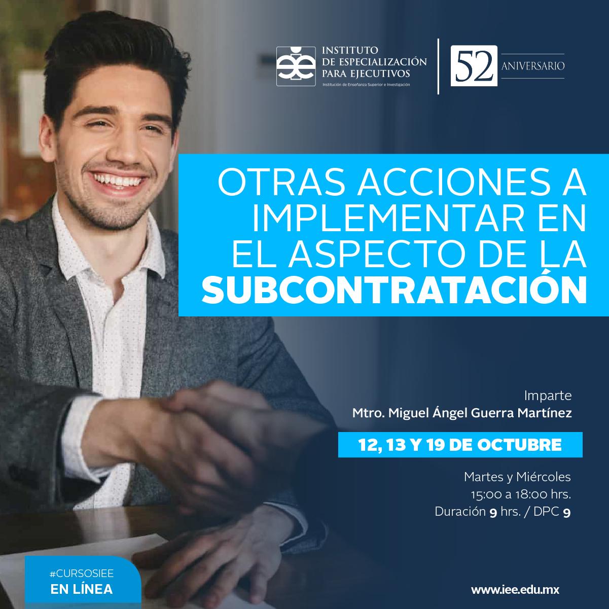 Curso en Línea en Otras Acciones a Implementar en el Aspecto de la Subcontratación