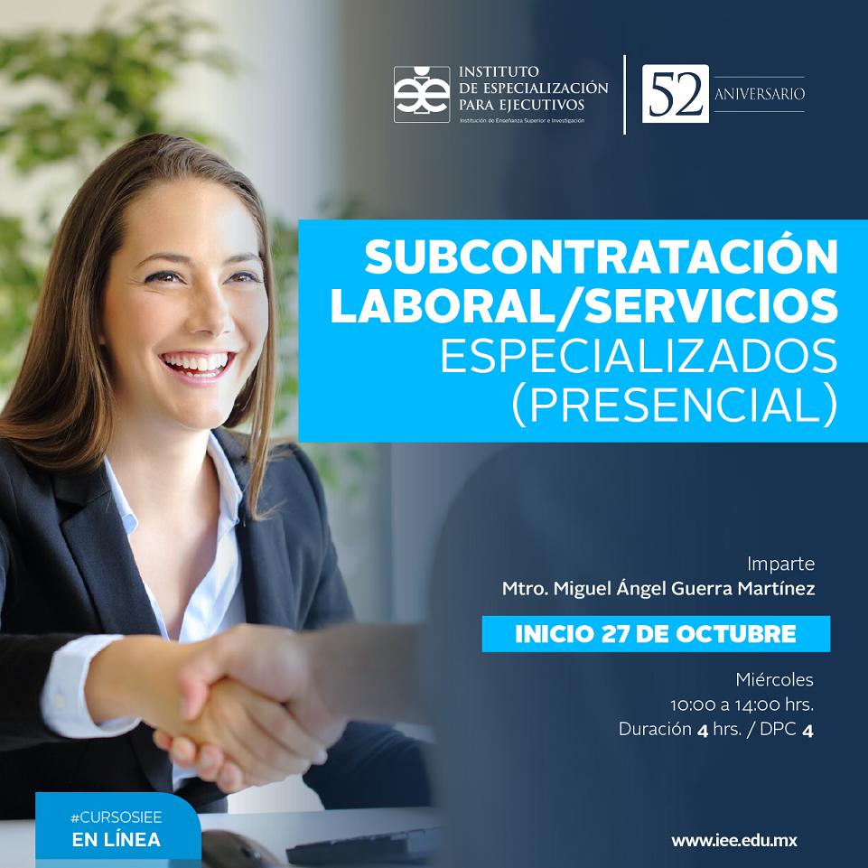 Curso Presencial en Subcontratación Laboral/Servicios Especializados (Presencial)