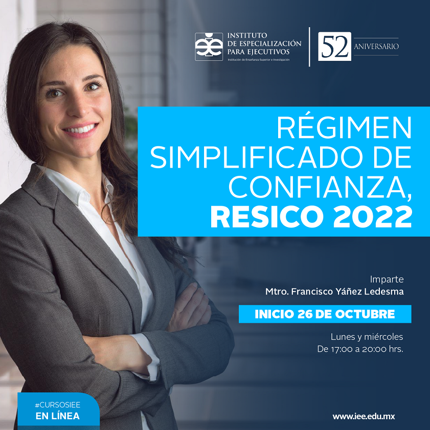 Curso en Línea Régimen simplificado de confianza RESICO 2022